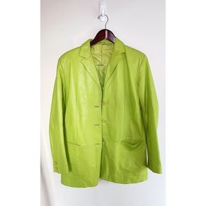 Green Real Leather Jacket